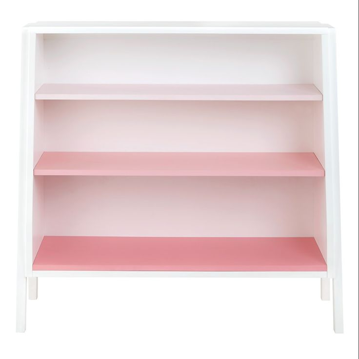 Graduated Wide Bookcase (Pink Shelves)|The Land of Nod