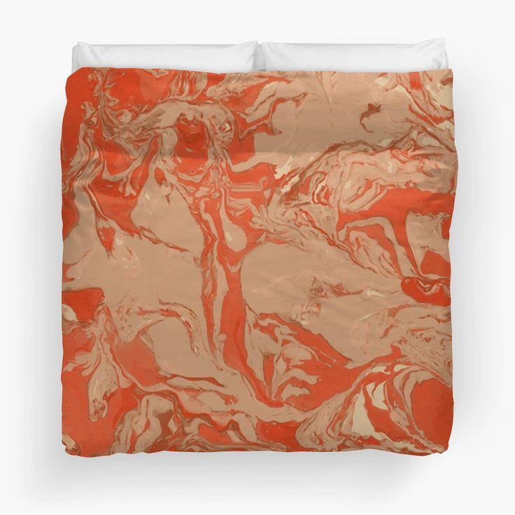 Orange marble texture. by kakapostudio