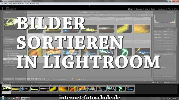 Bilder Reihenfolge sortieren in Adobe Lightroom