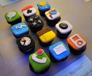 Tech cupcakes: Fun Recipes, Iphone App, App Cupcakes, Cool Cupcakes, Iphone Cupcakes, Tech Savvy, Cups Cakes, Cupcakes Rosa-Choqu, Savvy Sweet
