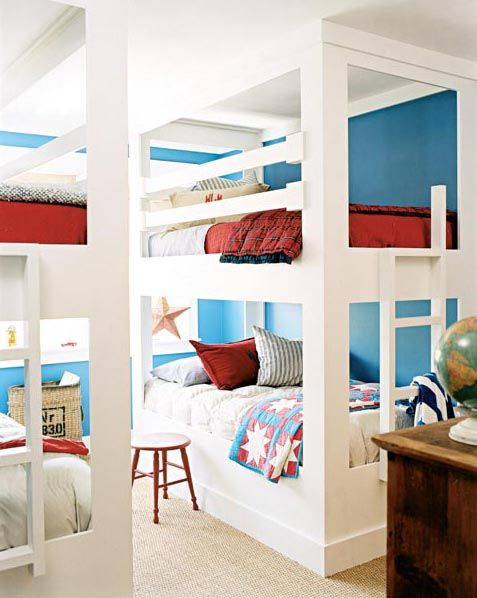 neat bunk beds. Who says a kid needs a private room? I had one for 3 years and it was lonely.