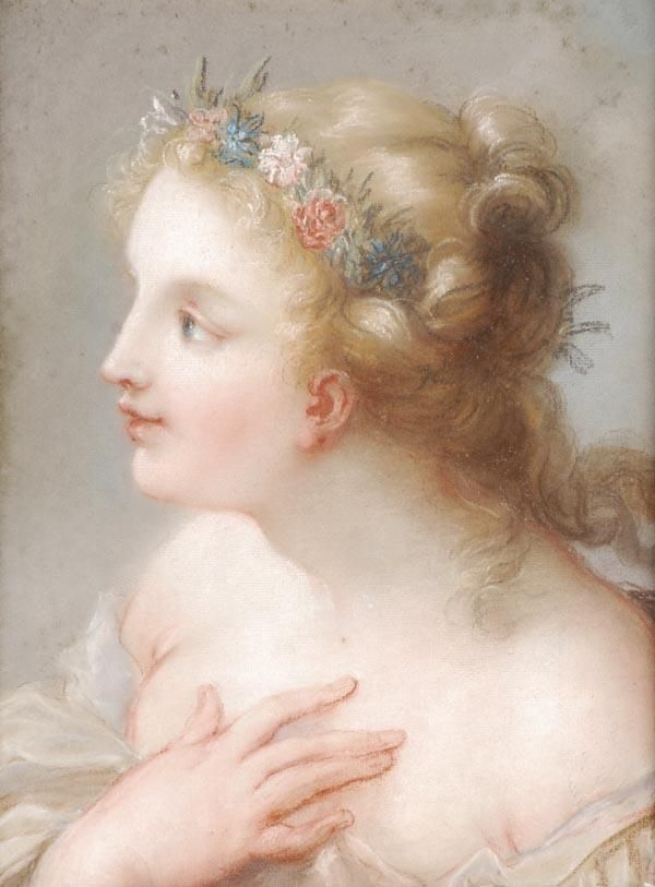 Follower of Rosalba Carriera,    Flora