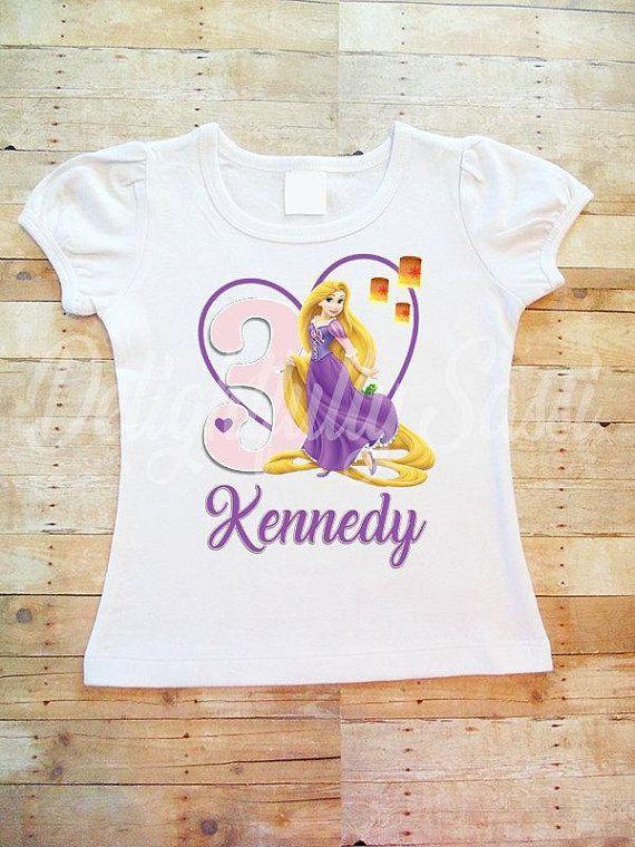 Rapunzel Birthday Shirt Personalized Girls