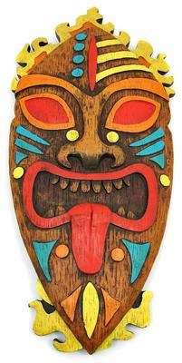 Pacific Island Tribal Art 18 inch Wall Mask Tiki   eBay