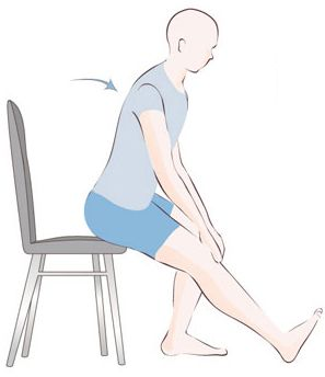 Sitting hamstring stretch variation for work maintain for Chaise quadriceps