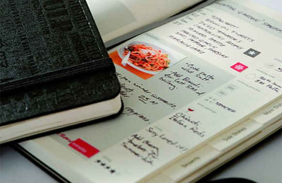 new moleskine recipe journal