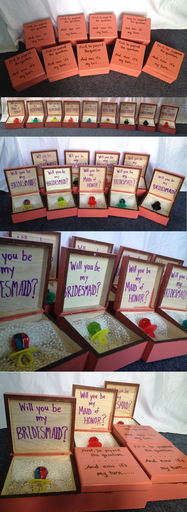 "How I ""popped the question"" to my bridesmaids!! ""First he popped the question and now it's my turn...will you be my bridesmaid?"""