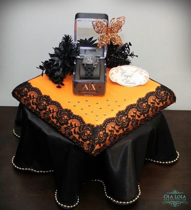 Black & Orange Gift Trays