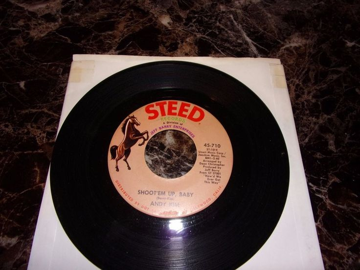 Andy Kim: Shoot'em Up Baby / Ordinary Kind Of Girl / 45 Rpm / Steed 710