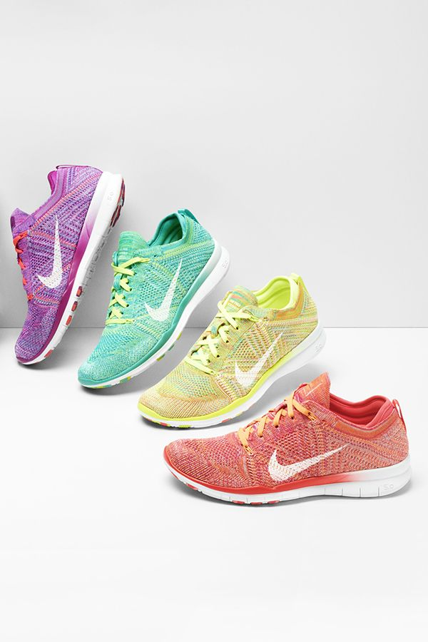 Training-specific cushioning and flexibility now comes in more colors. The Nike Free TR 5 Flyknit.
