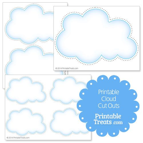 Printable Cloud Cut Outs