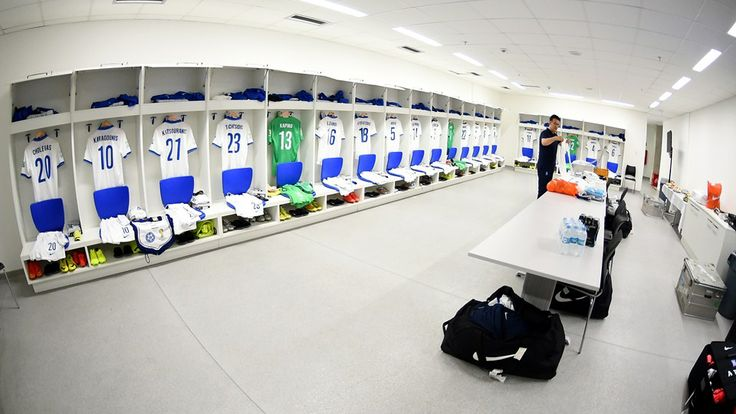 NATAL, BRAZIL - JUNE 19: The shirts worn by Greece players are seen in the dressing room.