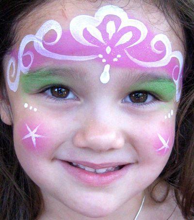 Trucco del viso per Carnevale per bambini da principessa n.4