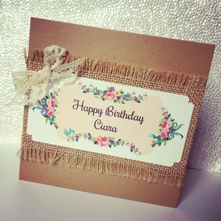Chic Card Boutique by Epiphany Designs - vintage style birthday card