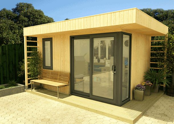 Alexander range insulated garden offices timber log for Insulated office