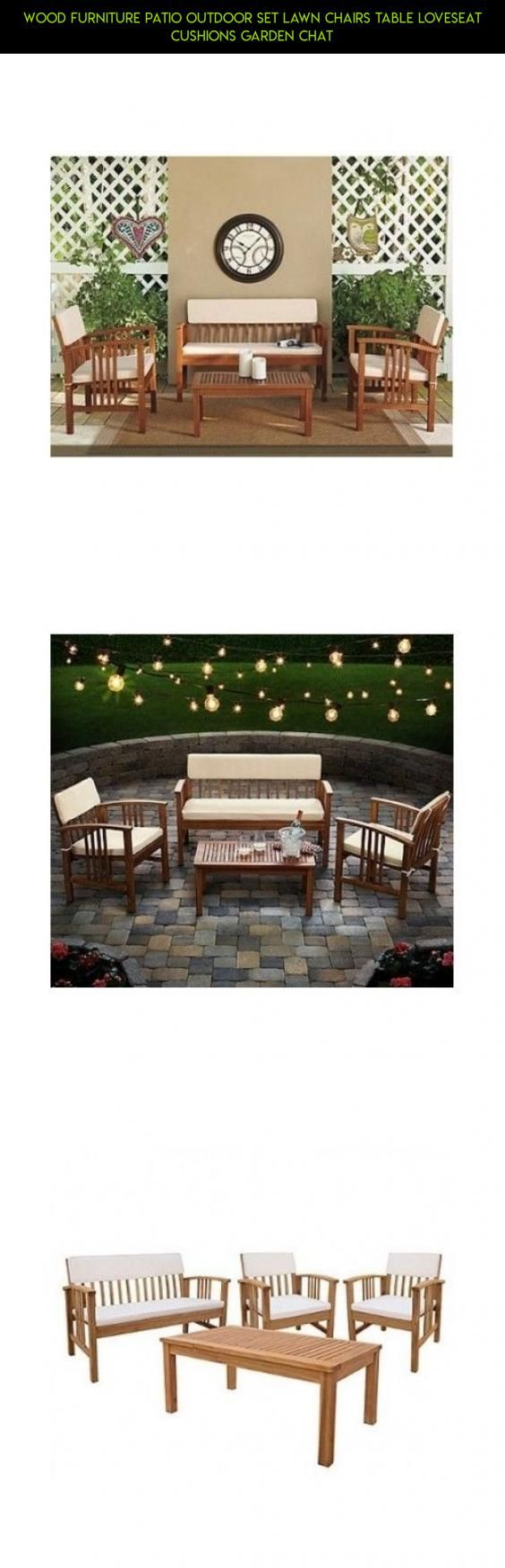 Wood Furniture Patio Outdoor Set Lawn Chairs Table Loveseat Cushions Garden Chat #camera #patio #cushions #shopping #products #plans #parts #tech #drone #fpv #furniture #gadgets #racing #technology #loveseat #kit