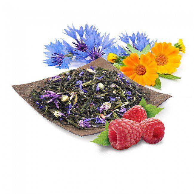 Mieszanka Green Tea Tian to idealna propozycja dla osób poszukujących delikatnego smaku wyróżniającego się lekką słodyczą http://www.smacznaherbata.pl/niebieskie-niebo-50g