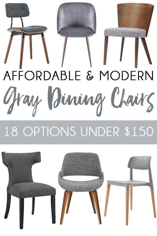 Affordable And Modern Gray Dining Chairs Dining Chairs Gray