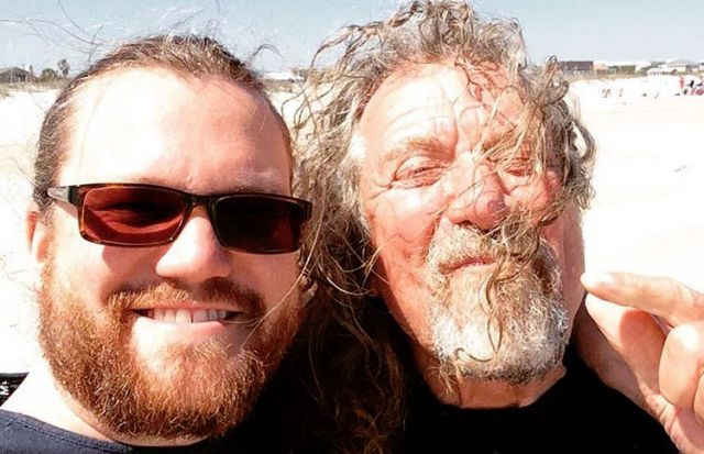 Sensational Space Shifters drummer Dave Smith and Robert Plant in Florida March 2016.