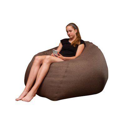 The Big Pear Bean Bag Chair Upholstery: Light Brown - http://delanico.com/bean-bag-chairs/the-big-pear-bean-bag-chair-upholstery-light-brown-736265573/
