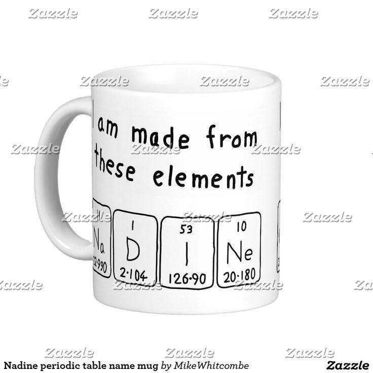 Nadine periodic table name mug
