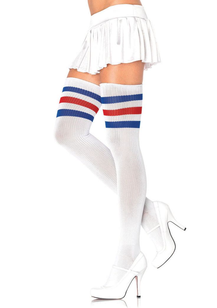 Striped Thigh High Tube Socks - Night out Bachelorette Party