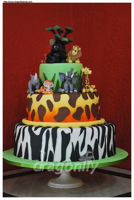 Safari Cake / Bolo Selva by Dragonfly Doces, via Flickr
