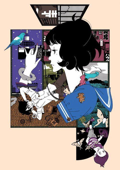 Japanese Illustration: Tatami Galaxy. Yusuke Nakamura. 2010