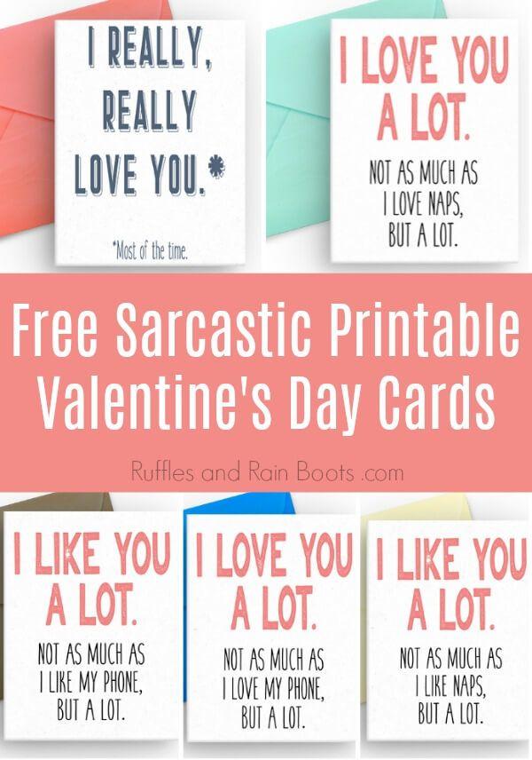 Free Sarcastic Printable Valentines