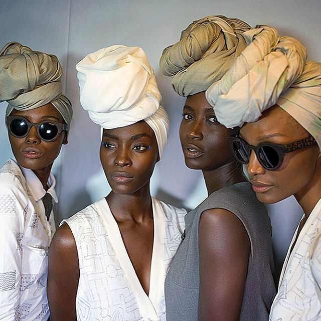 Models wait backstage before a show with label Mille Collines at Mercedes Benz AFI fashion week March 2016 in Johannesburg, South Africa. #africancatwalk #millecollines #johannesburg #fashionweek #afi #africanfashion #millecollines @millecollines
