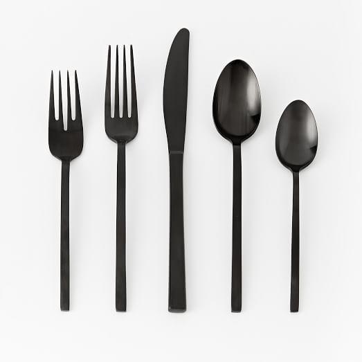 Matte Black Flatware Set