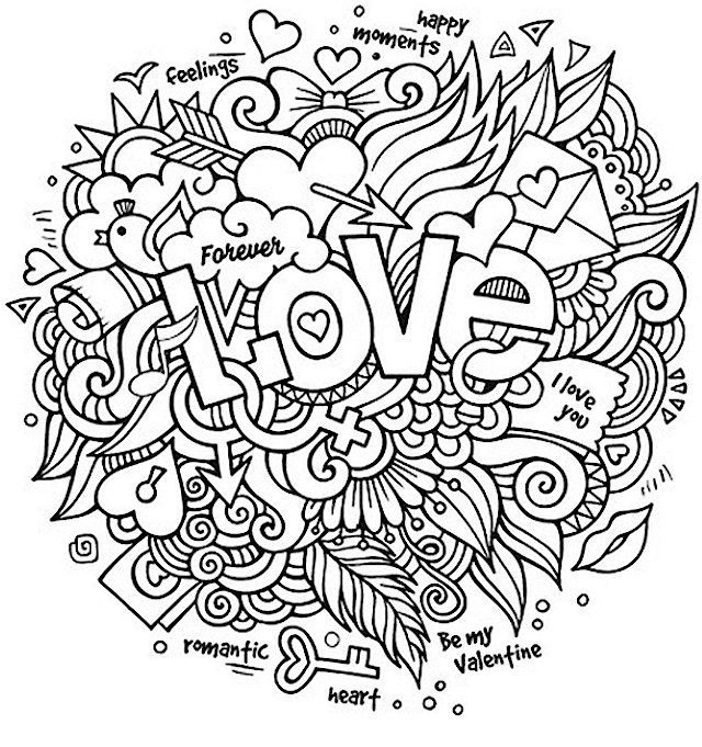 Valentines Day Coloring Pages For Adults - Best Coloring Pages For Kids Love  Coloring Pages, Quote Coloring Pages, Valentines Day Coloring Page