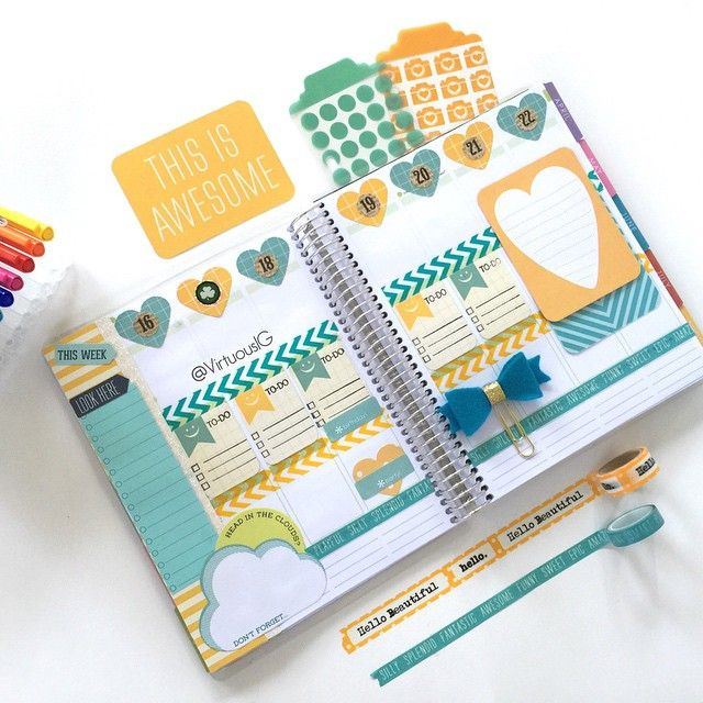 virtuous1g: This week in my ECLP.  #Virtuous1GLovesAnOriginal #Filofax  #ErinCondren #ECLP