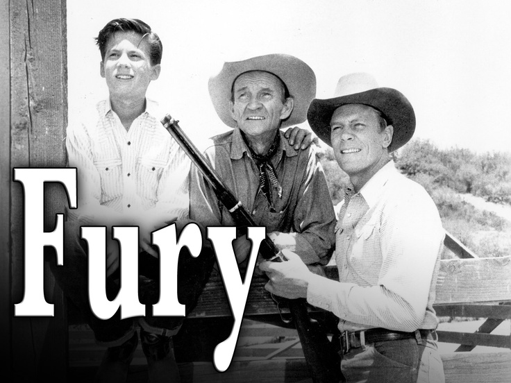 """Fury"" (TV Show) ""FURY!..The story of a horse..and a boy who loves him.""  was a popular Saturday morning show in reruns that originally aired on NBC from 1955–1960, starring Peter Graves as Jim Newton ( who operates the Broken Wheel Ranch in California), Bobby Diamond as Jim's adopted son, Joey Clark Newton, and William Fawcett as ranch hand Pete Wilkey. Roger Mobley co-starred in the three last seasons as Homer ""Packy"" Lambert, a friend of Joey's."