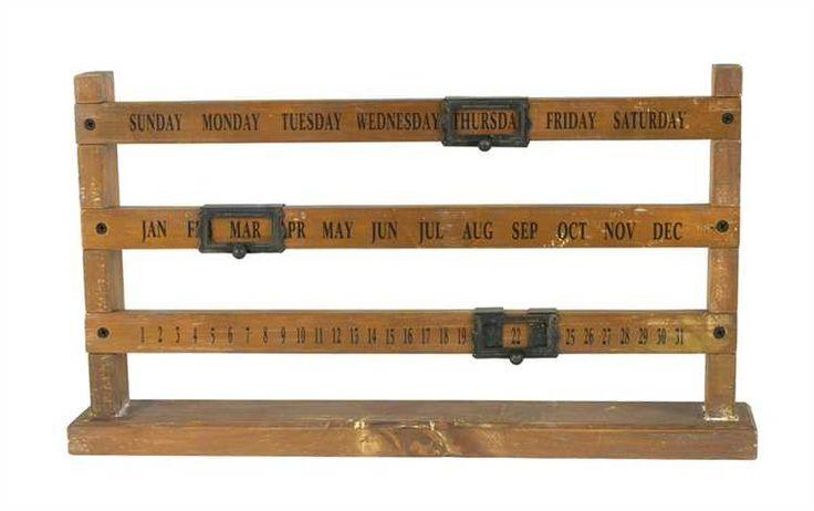 calendar 3r wooden calendar perpetual calendar wood perpetual sliding ...