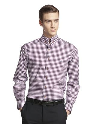 73% OFF Vivienne Westwood Men's Gingham Shirt (Blue)