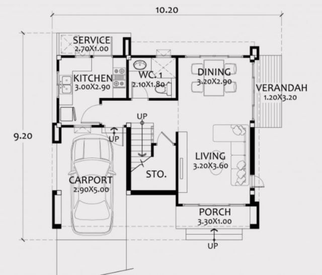 Home Design Plan 10x9m With 3 Bedrooms Home Ideassearch Home Design Plan House Design Dream Home Design