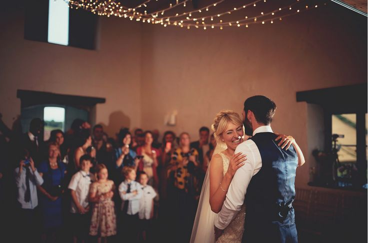 Ceiling light canopy for first dance in the Watermill