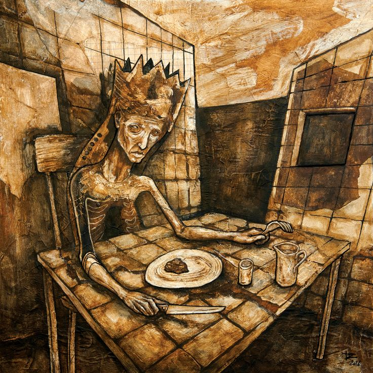 """""""Le Festin"""", painting by Jérôme Oudot Trëz.  To see more of his artworks, visit Art Galaxie at"""