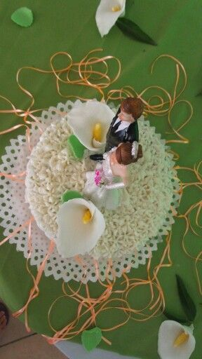 Torta novios con calas hecha por Mariana's Cake. https://m.facebook.com/marianas.cake.7