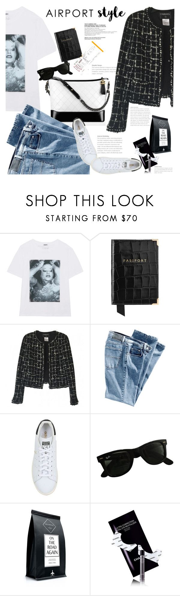 """""""Fly with style"""" by naki14 ❤ liked on Polyvore featuring Kenzo, Chanel, Spitfire, Aspinal of London, adidas Originals, Ray-Ban, Codage, travel, vacation and HowToWear"""