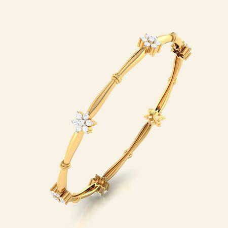 Quincy gold diamond bangle