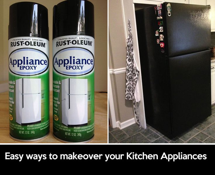 DIY: Kitchen Appliance Makeover | Kate Danielle Creative Turn your old white appliances black with these 2 easy fixes.