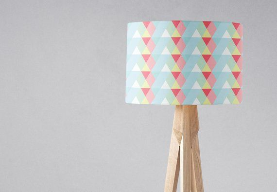 Pastel Lamp Shade Pastel Nursery Decor Pastel Home Decor Pink Lampshade Blue Lamp Shade Light Shade Geometric Lampshade Table Lamp Blue Lamp Shade Pastel Nursery Decor Pastel Home Decor