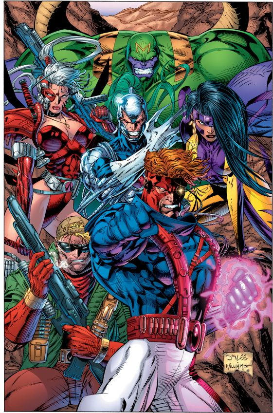 Jim Lee Milestone #4 - Teaming up with other extraordinary former Marvel artists to establish Image Comics, Jim Lee introduces WildC.A.T.S and the WildStorm Universe which includes Gen 13.