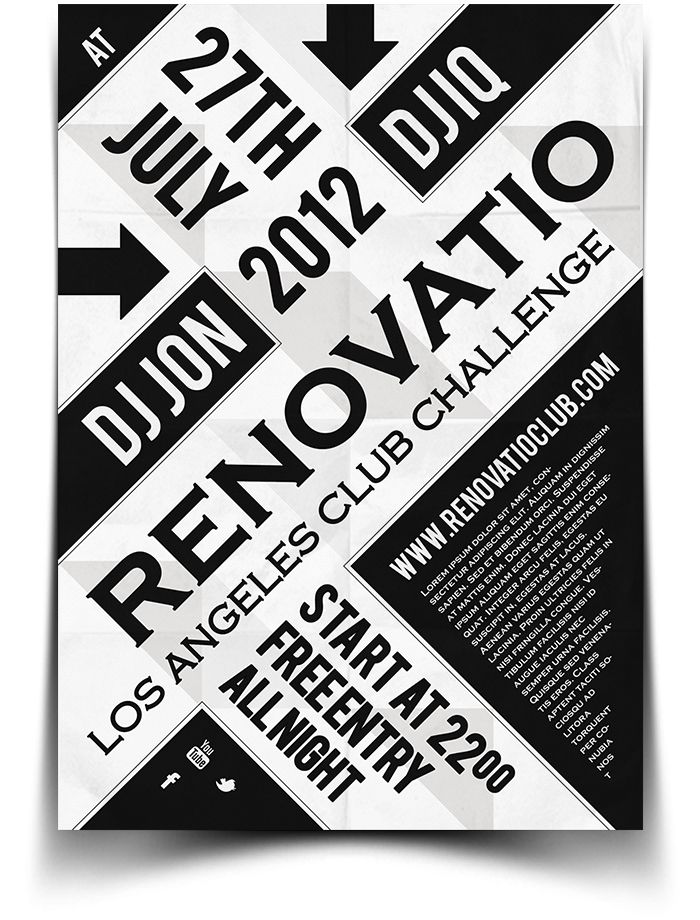 15 best images about Flyers design – Typography Flyer