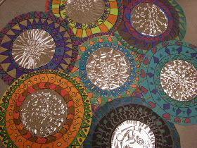 WHAT'S HAPPENING IN THE ART ROOM??: 3rd Grade Mexican Folk Art Mirrors