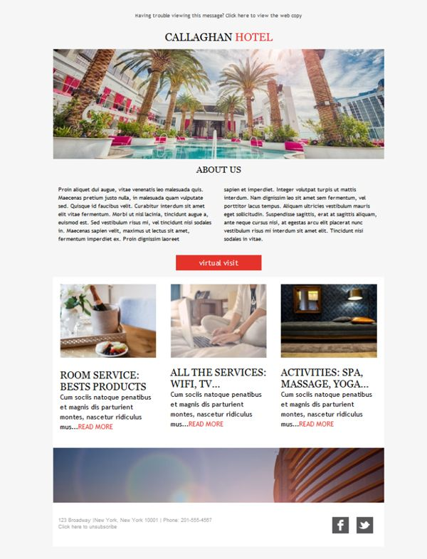 Best Alojamiento Y Hoteles  Plantillas Newsletter Images On