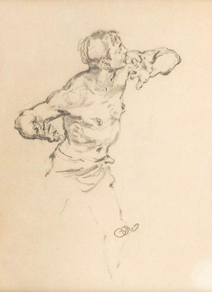 Jan Matejko - Studium mężczyzny - postaci do obrazu