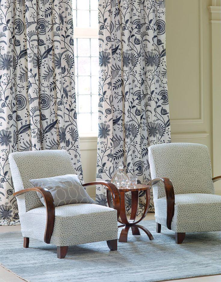 Colefax And Fowleru0027s Mirella (drapes), Leo (chairs), And Copeland (